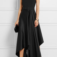 Solace London - Harlech asymmetric crepe and satin gown