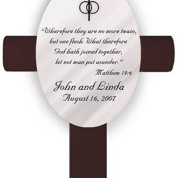 Personalized Oval Wedding Cross - U19 Matthew