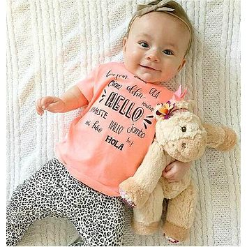 Baby Boy Clothes Sets Boy Clothes Cotton Letter With Short Sleeve T-shirt+Pants Infant Clothing Costume
