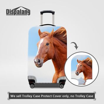 Dispalang Elastic Stretch Luggage Protective Covers 3 Size S/M/L For Trolley Suitcase Horse Pattern Men Women Travel Accessories