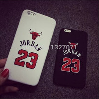 Chicago Bulls No.23 Jordan Basketball Matte PC Case 5 5s 5SE 5G 6 4.7/5.5 inch