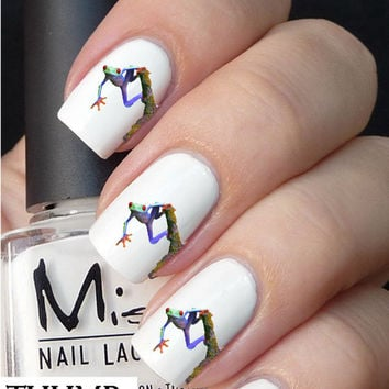 Frog nail decals nail decal nail art nail sticker