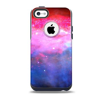 The Vivid Pink and Blue Space Skin for the iPhone 5c OtterBox Commuter Case