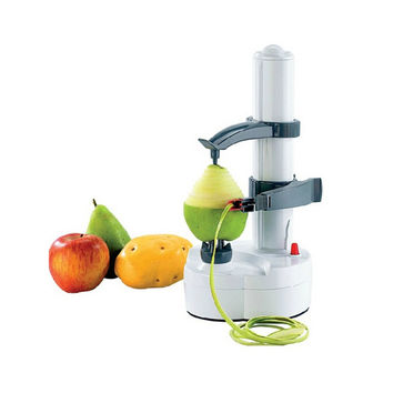 Automatic Electric Fruit Apple Pear Potato Peeler Portable Kitchen Utensil   white