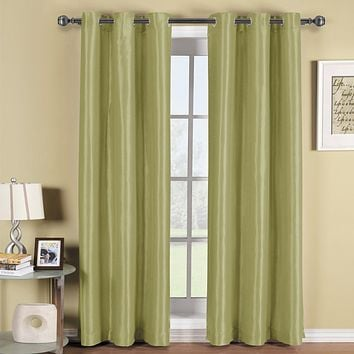 GREEN 42x96 Soho Grommet Thermal coating Blackout Window Curtain Panel