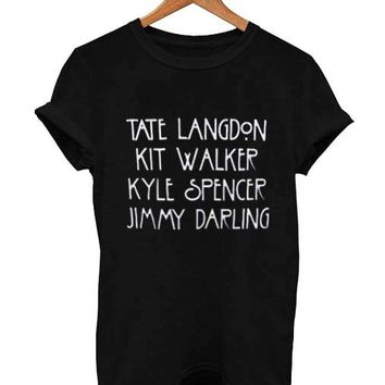 evan peters american horror story T Shirt Size XS,S,M,L,XL,2XL,3XL