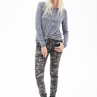FOREVER 21 Camouflage Cargo Pants Olive/Brown