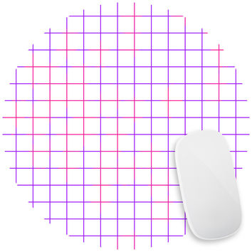 Purple Pink Grid Mouse Pad Decal