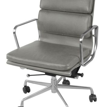 Chandel Low Back Office Chair, Vintage Smoke Gray