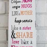Only Aunts Can Give Hugs Like A Mother Love Share Like A Friend Handmade Hand Painted Reclaimed Wood Sign