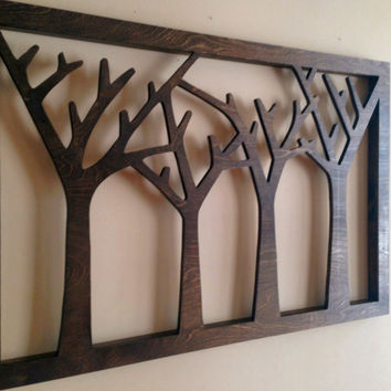 Trees Forest Wood Wall Decor Art Rustic Home