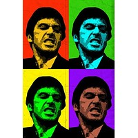 Scarface al pacino actor MULTIPLE image POP ART POSTER colorful 24X36 hot