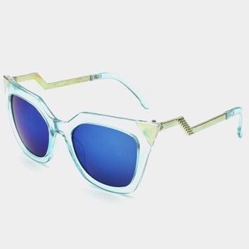 Triangle and Zigzag Shape Alloy Sunglasses