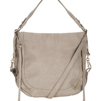 Zipper Front Round Bottom Crossbody Satchel