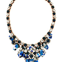Shourouk Theresa Mini-Sequin and Crystal Necklace in Blue Multi