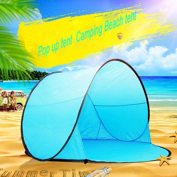 pop up tent beach tent portable sand free automatic beach tents  quick open outdoor lightweight children camping tents play