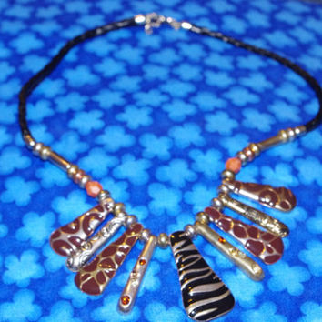 Beautiful Vintage Ethnic Tribal Style Charm Necklace