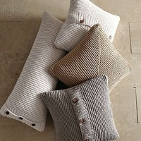 Chunky Purl Pillow Cover