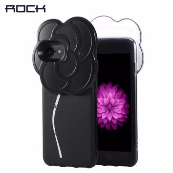 ROCK Selfie Led Light Case for iPhone 7 6 6s plus, Rhinestone Selfie case with Flash Led light