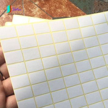 A5 Adhesive Sticker White Sticker Small Label Blank Mouth Take Paper Handwriting Paste Cross Stickers 10 Sheets/lot S380P