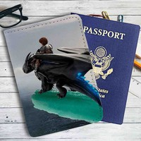 How to Train Your Dragon 2 Toothless vs Alpha Leather Passport Wallet Case Cover