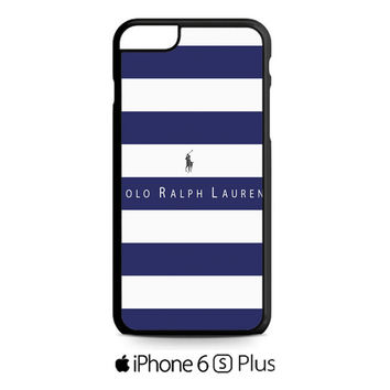 Polo Ralph Lauren Blue White Stripes iPhone 6S  Plus  Case