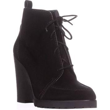 MICHAEL Michael Kors Piper Lace Wedge Ankle Boots, Black Suede, 5.5 US / 35.5 EU