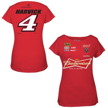 Kevin Harvick Chase Authentics Women's Uniform T-Shirt - Red
