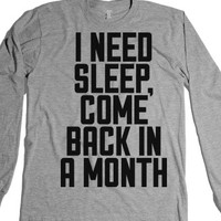 I Need Sleep-Unisex Heather Grey T-Shirt