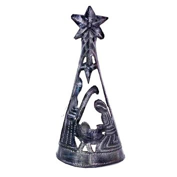 Christmas Tree with Nativity -Tree Topper