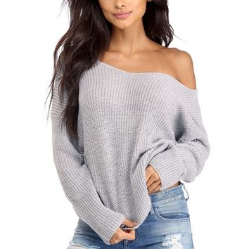 Gray Knotty And Nice Pullover