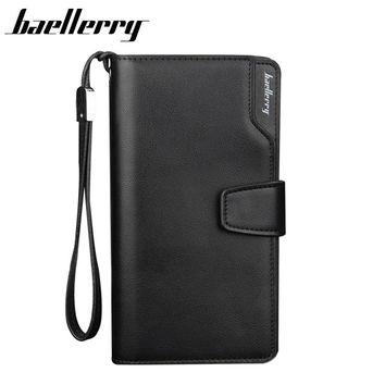BAELLERRY Men Wallets Men Purse Clutch Bag PU Leather Wallet Long Design Card Holders Carteira Masculina Best Gift HQB1800