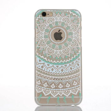 Originality Blue Lace iPhone 5se 5s 6 6s Case Ultrathin Transparent Cover + Gift Box