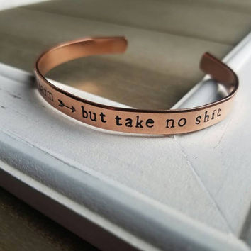 Do No Harm But Take No Shit Bracelet