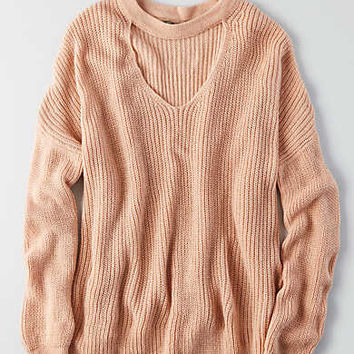Don't Ask Why Choker Neck Sweater, Just Rosey
