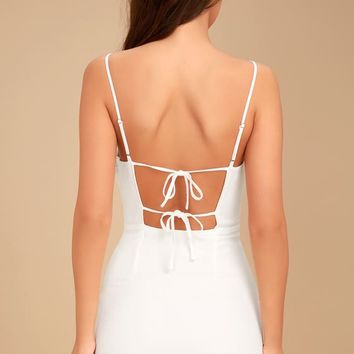 Sweetest Day White Mini Dress