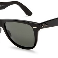 Ray-ban Original Wayfarer Rb2140 Sunglasses 1016 Black On Red Texture Crystal Green 47 22 145