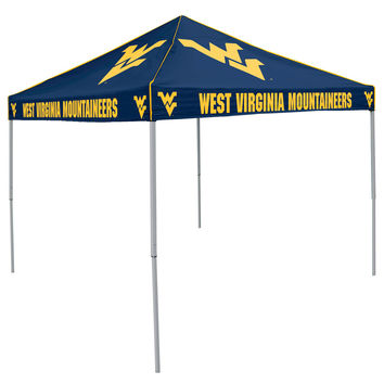 West Virginia Mountaineers NCAA 9' x 9' Solid Color Pop-Up Tailgate Canopy Tent