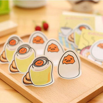 Memo Pads Sticky Notes Labels| Bookmark Stationary Paper | School Office Supplies  | Removable Adhesive Jam Egg Yolk Cute Korean Post-It M46