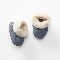 Gap Cozy Quilted Chambray Booties