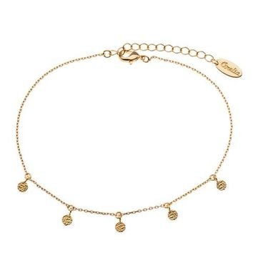 **Tiny Disc Anklet by Orelia