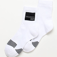 adidas EQT Hi White Quarter Socks at PacSun.com