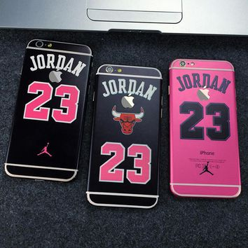 Fashion Full Body Stickers Case for Apple iPhone 6 6S or Plus Jordan 23 Chicago Bulls