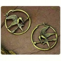 The Hunger Games movie Mockingjay logo Hoop Earrings NEW Catching Fire GIFT NECA