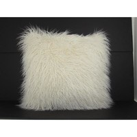 Mongolian White Fur Pillow