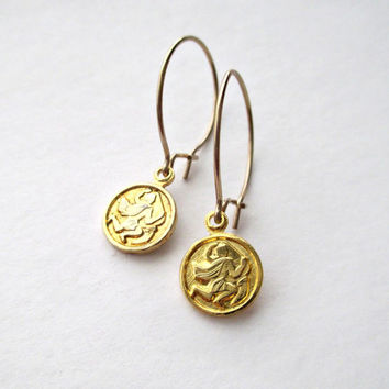 Aquarius Earrings. Delicate Bohemian Jewelry