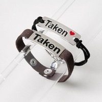 Taken His and Hers Bracelet Set | Claire's