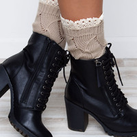 Kassie Boot Cuff - Taupe