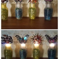 Hand-made Sea Glass Vase Candle Holder