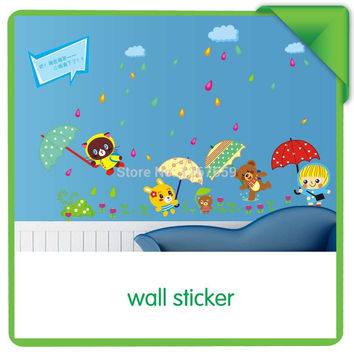 Rain, the third generation of fashion fun wall stickers SM6